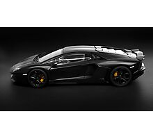 Lamborghini Aventador LP700-4 side profile Photographic Print