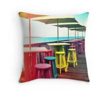 Rainbow of Keys II Throw Pillow