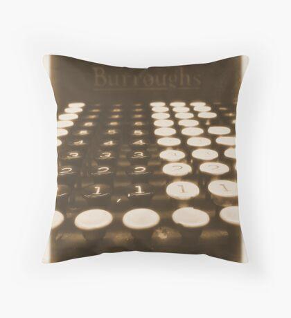 adding machine Throw Pillow