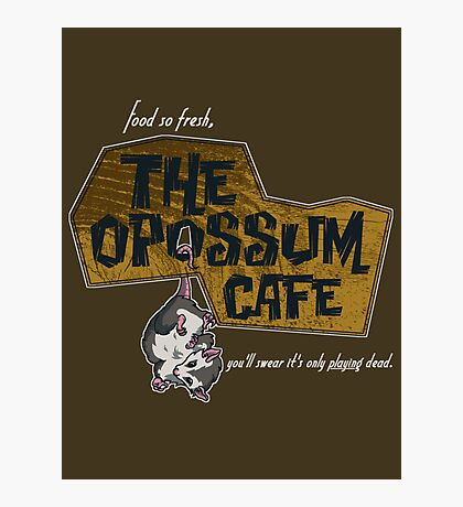 The Opossum Cafe Photographic Print