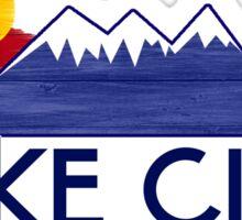Lake City Colorado wood mountains Sticker