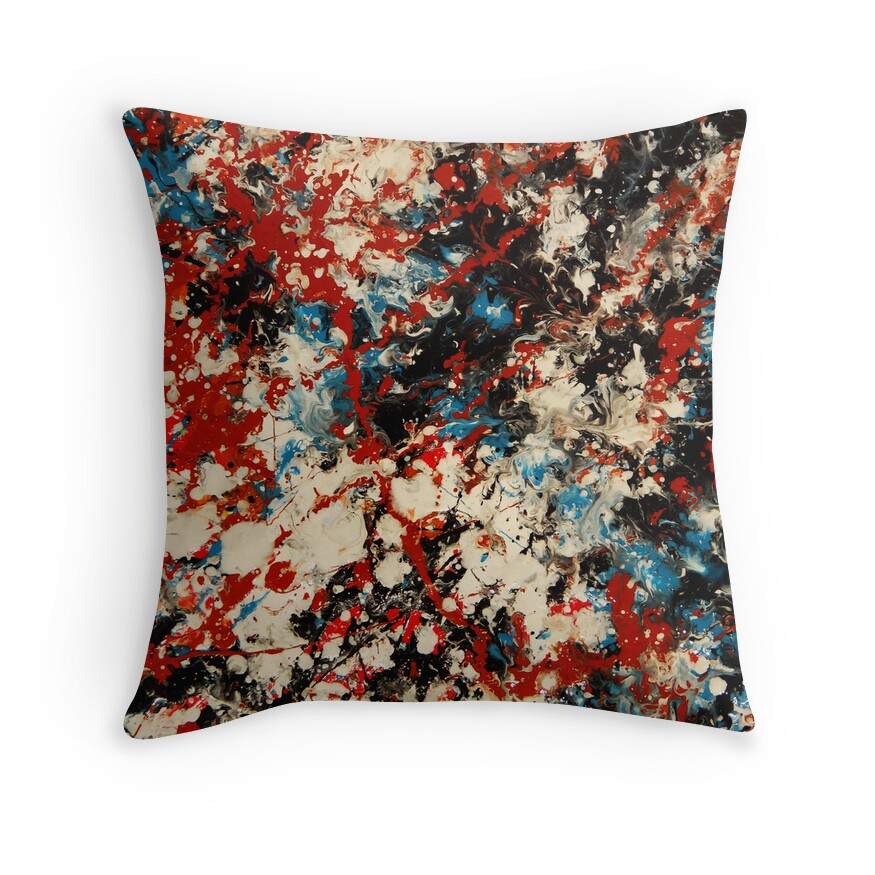 Big Red Throw Pillows : Large Red: Throw Pillows Redbubble