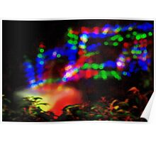 Laser fountain pattern 2 Poster