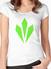Vitality - Green Women's Fitted Scoop T-Shirt