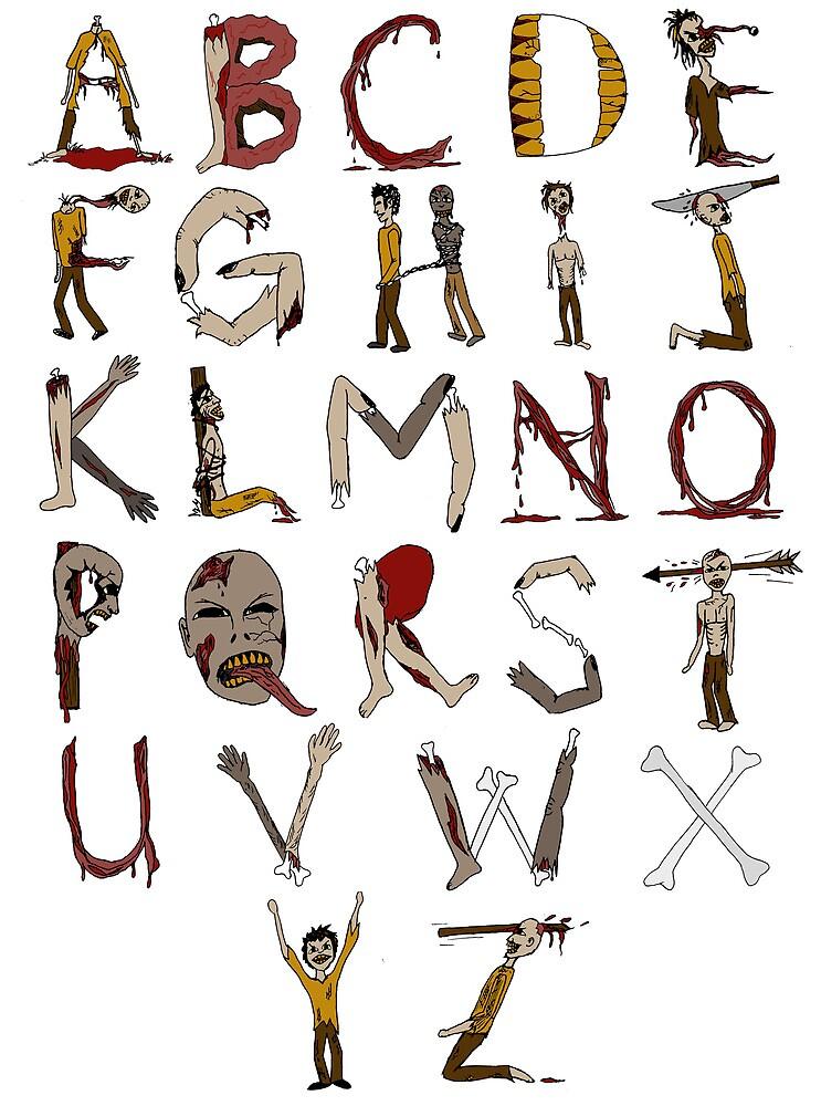 Zombie Alphabet by codyvandezande