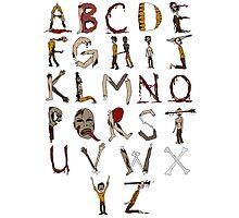 Zombie Alphabet Photographic Print