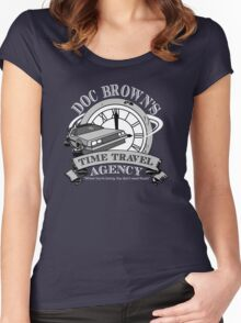 Doc Brown's Travel Agency Women's Fitted Scoop T-Shirt