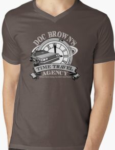 Doc Brown's Travel Agency Mens V-Neck T-Shirt