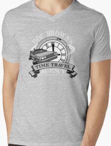 Doc Brown's Travel Agency Mens V-Neck T-Shirt