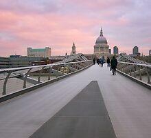 Millennium Bridge Sunrise by Mark Tomlinson