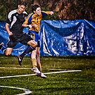 Soccer Action by Jim Haley