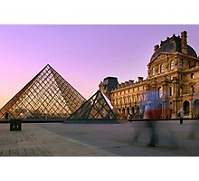 Louvre Sunset Photographic Print