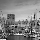 Marseille Harbor Scene by davidalf
