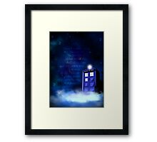 TARDIS on a Cloud Framed Print