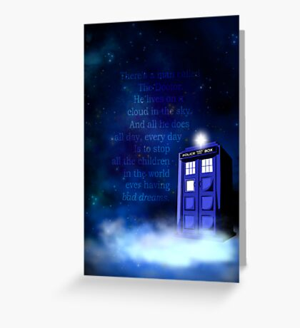 TARDIS on a Cloud Greeting Card