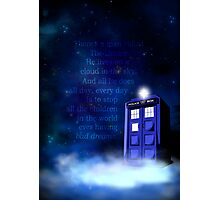 TARDIS on a Cloud Photographic Print