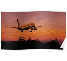 Plane departing Poster