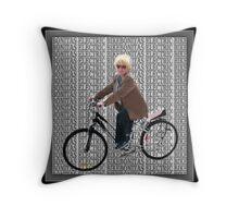 ❀◕‿◕❀ BONITAS ELECTRIC SCHWINN BICYCLE ❀◕‿◕❀ Throw Pillow