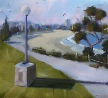 View to Coogee Beach  by Tash  Luedi Art