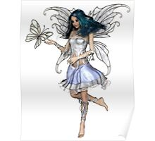 Snowflake Butterfly Fairy Poster