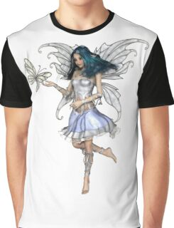 Snowflake Butterfly Fairy Graphic T-Shirt