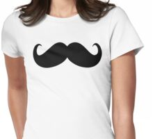 Handlebar mustache Womens Fitted T-Shirt