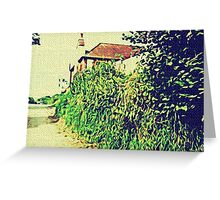 COTTAGE AND LANE Greeting Card