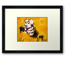 Timmy the Mouse on the Big Cheeze Framed Print