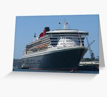 Queen Mary 2 Maiden Voyage - Sydney 2007 Greeting Card