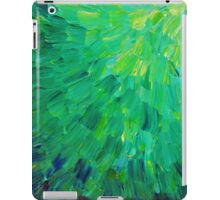 SEA SCALES in GREEN - Bright Green Ocean Waves Beach Mermaid Fins Scales Abstract Acrylic Painting iPad Case/Skin