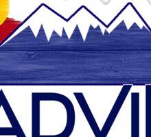 Leadville Colorado wood mountains Sticker
