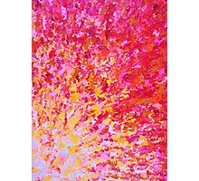 ROMANTIC DAYS - Lovely Sweet Romance, Valentine's Day Sweetheart Pink Red Abstract Acrylic Painting Photographic Print