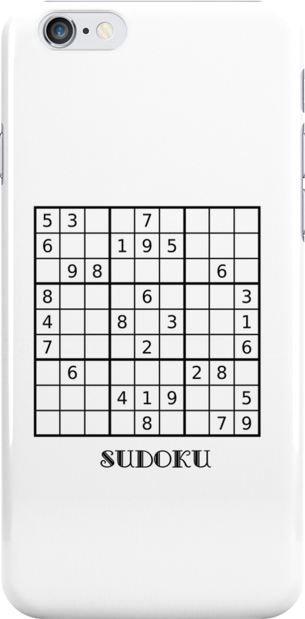 Sudoku iPhone Case by Catherine Hamilton-Veal  ©