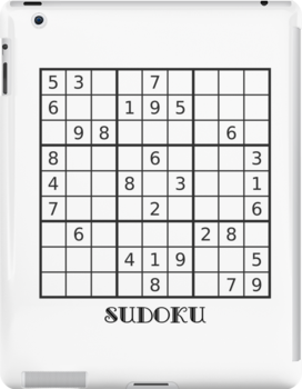Sudoku iPad Case by Catherine Hamilton-Veal  ©
