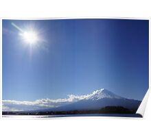 Mount Fuji under an Autumn Sun Poster