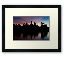 Angkor Wat temples at sunrise Framed Print
