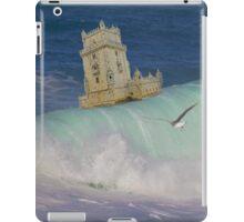 Belém Tower decided to leave. A partida da Torre de Belém. iPad iPad Case/Skin