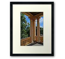 magnificent columns, HDR Photo Framed Print