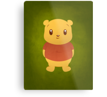 Cute Pooh Bear Metal Print