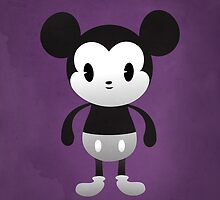 Cute Mickey Black & White by geraldbriones