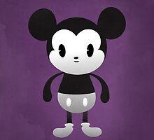 Cute Mickey Black & White by geraldbriones