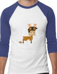 Poop  Horn Men's Baseball ¾ T-Shirt