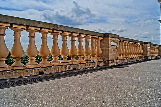balustrade of belvedere, HDR photo by Alexander Drum
