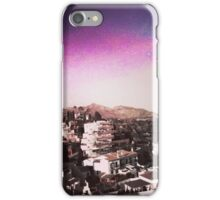 Old village with colored sky iPhone Case/Skin