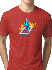 The Boy Stood on the Burning Deck Tri-blend T-Shirt