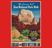 Vintage poster - Zion National Park Kids Clothes