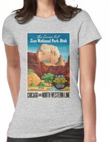Vintage poster - Zion National Park Womens Fitted T-Shirt