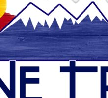 Lone Tree Colorado wood mountains Sticker