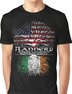Flannery - American Grown with Irish Roots Graphic T-Shirt
