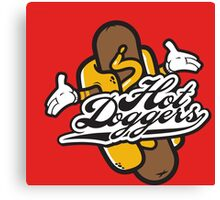 Cool Hot Doggers Logo Design Canvas Print
